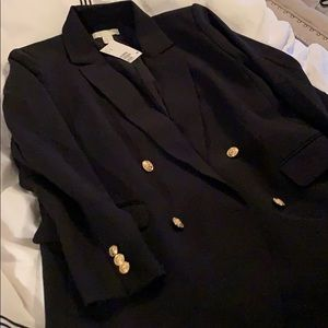H&M Jackets & Coats - NWT - H&M double breasted blazer with gold buttons
